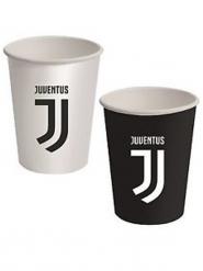 8 Bicchieri di carta Juventus™ neri e bianchi