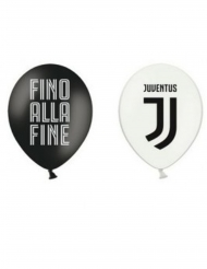 12 palloncini Juventus™ neri e bianchi