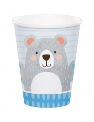8 bicchieri in cartone piccolo orso