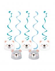 5 sospensioni di cartone piccolo orso