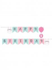 Ghirlanda di carta Happy Birthday coniglio