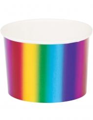 6 coppette in cartone arcobaleno