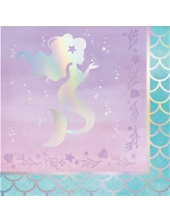 16 tovaglioli in carta sirena iridescente