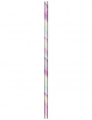 24 cannucce in cartone iridescenti