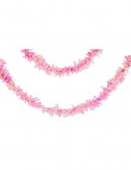 Ghirlanda di carta rosa iridescente 7,62 m