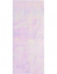 10 sacchetti di plastica rosa iridescente
