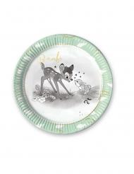 8 piatti in cartone premium Bambi™ 23 cm