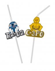 6 cannucce flessibili con vignetta premium Star Wars™