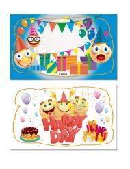 2 decorazioni di zucchero emoticons