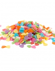 Coriandoli di zucchero cuori multicolor