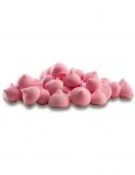 Barattolo di mini meringhe di zucchero rosa