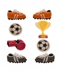 8 mini statuine di zucchero tema calcio