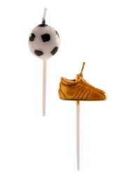 6 candeline palloni e scarpe da calcio