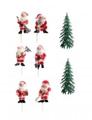 Kit decorazioni per dolce Babbo Natale