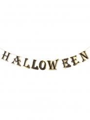 Ghirlanda in cartone nera e oro Halloween