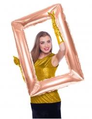 Palloncino alluminio cornice rettangolare oro rosa