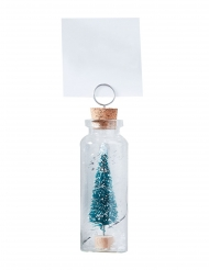 5 segnaposto albero in mini bottiglia di vetro