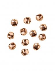 50 campanelline in metallo color oro rosa