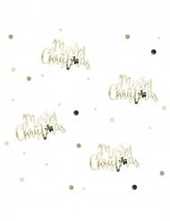 Coriandoli da tavola oro Merry Christmas