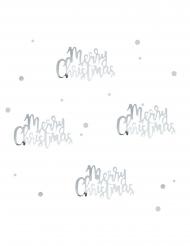 Coriandoli da tavola argento Merry Christmas