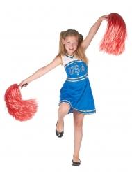 Costume da ragazza pompom blu per bambina