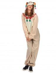 Costume tuta con cappuccio da lama per donna 47d9eb53680