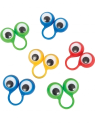 8 anellini colorati con occhi