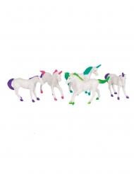 8 statuine in plastica unicorno
