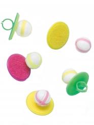 5 anelli con gioco pallina in velcro