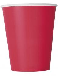 14 bicchieri in cartone rossi