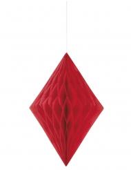 Rombo in carta alveolata color rosso