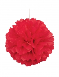 Pon pon da appendere color rosso 40 cm