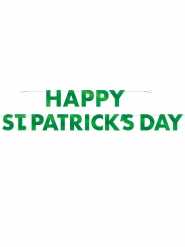 Ghirlanda in cartone verde Happy St. Patrick's Day