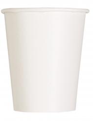 14 bicchieri in cartone bianchi