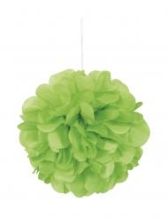 3 pon pon da appendere color verde limone 22 cm