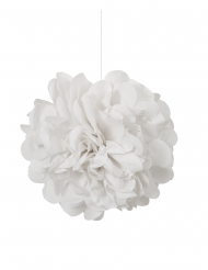 3 pon pon da appendere color bianco 22 cm