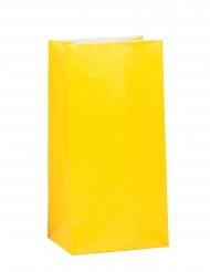 12 sacchetti regalo di carta color giallo