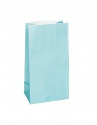 12 sacchetti regalo di carta color celeste
