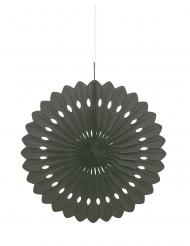Rosone di carta color nero 40 cm
