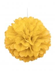 Pon pon da appendere color giallo 40 cm