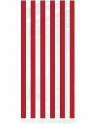 20 sacchetti in plastica a righe rosse e bianche