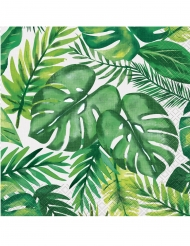 16 tovaglioli di carta foglie e palme tropicali