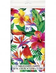 Tovaglia in plastica colorata motivi tropical