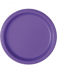 20 piattini in cartone viola 18 cm
