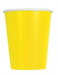 14 bicchieri in cartone giallo limone