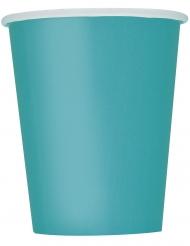 14 bicchieri in cartone blu caraibico