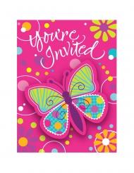 8 inviti di compleanno farfalle