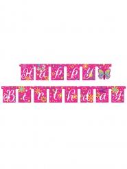 Ghirlanda Happy Birthday con farfalle