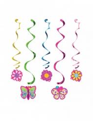5 sospensioni a spirale farfalle
