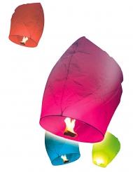 10 lanterne volanti multicolor